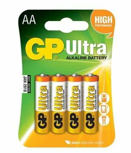 4X BATERIA GP ULTRA ALKALINE LR06 / AA