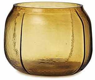 Norman Copenhagen Step Wazon, szkło, brązowy, 16 x 22 x 19,5 x 16,5 cm