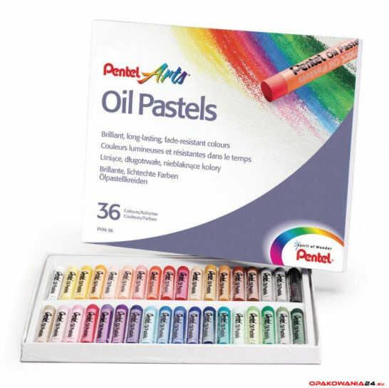 Kredki pastele olejne PENTEL 36kolorów PHN36