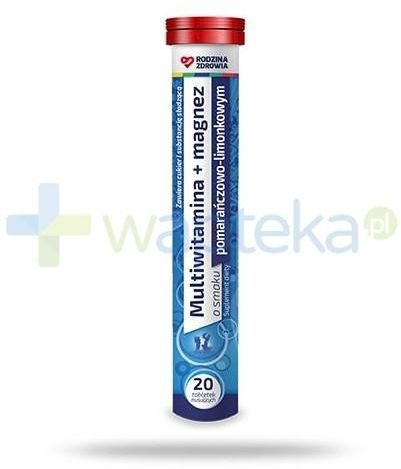 Rodzina Zdrowia Multiwitamina + Magnez 20 tabletek musujących