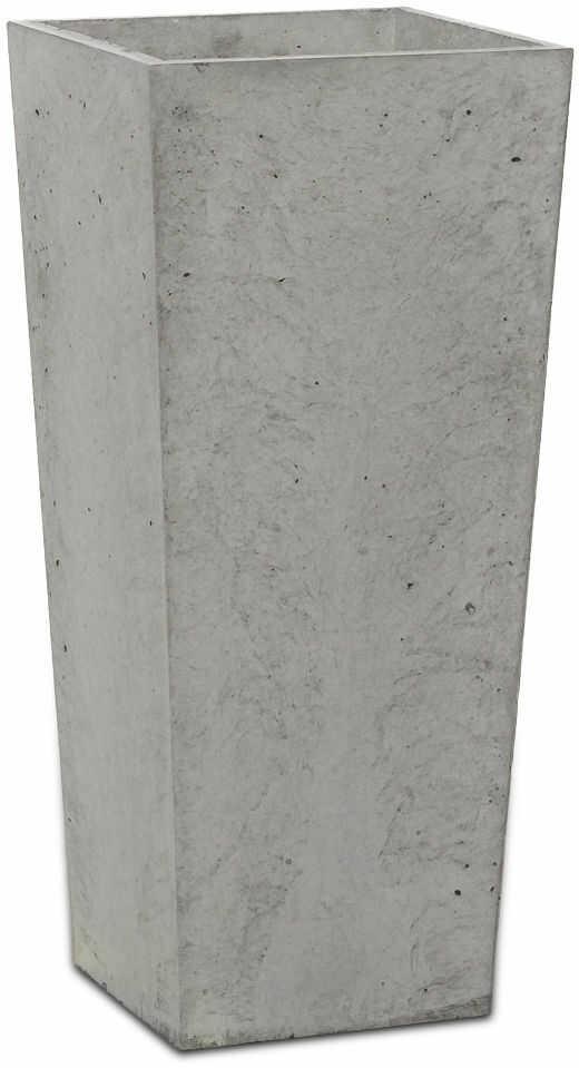 Donica betonowa CONE S 19x19x40 szary naturalny