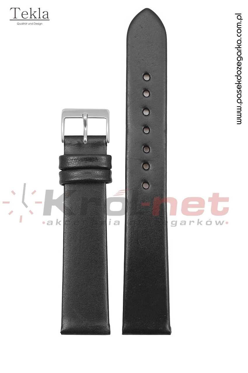 Pasek TK118/24 - czarny, gładki