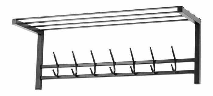Wieszak do przedpokoju z półką - Metalowy - Loft - 90