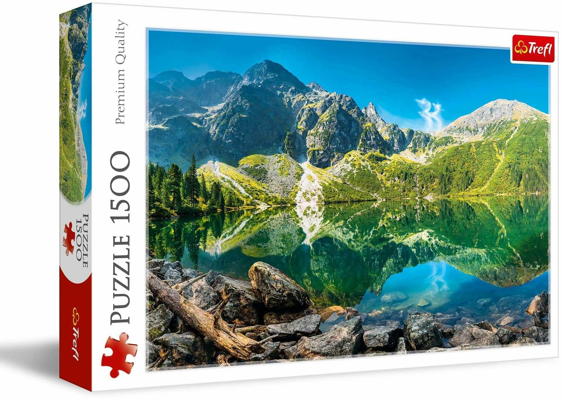 Trefl Jezioro Morskie Oko, Tatry, Polska Puzzle 1500 Elementów o Wysokiej Jakości Nadruku dla Dorosłych i Dzieci od 12 lat