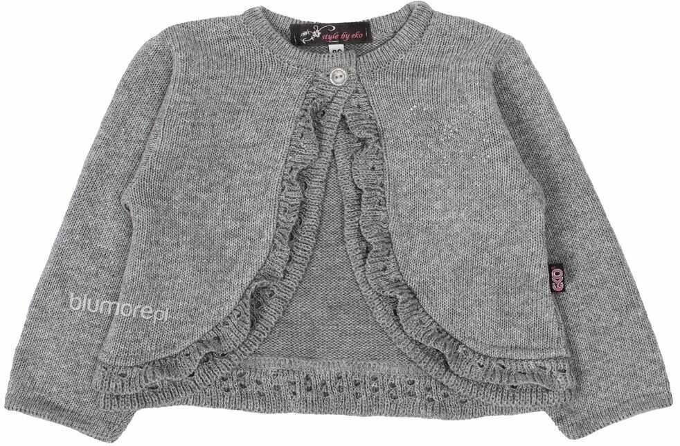 Sweterkowe bolerko z mieniącym wzorem 80 - 104 Ilonka szary
