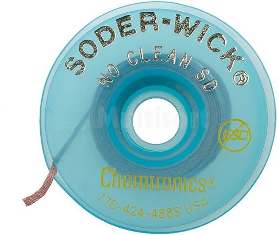 Taśma rozlutowująca CHEMTRONICS No Clean W:0,8mm L:1,5m