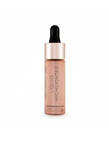Makeup Revolution Liquid Highlighter Liquid Bronze Gold płynny rozświetlacz do twarzy
