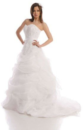FSS534 Suknie Ślubne Suknia BIAŁY