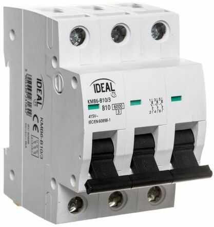 Wyłącznik nadprądowy 3P B 10A 6kA AC KMB6-B10/3 23164