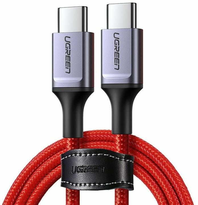 Kabel USB-C do USB-C UGREEN 2.0 1m (czerwony)