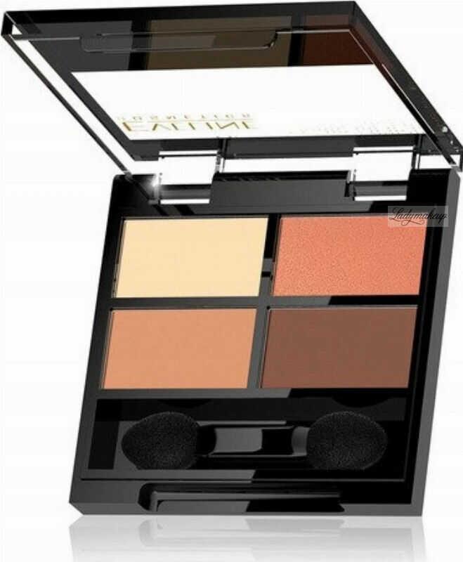 Eveline Cosmetics - QUATTRO - Professional Eyeshadow Palette - Paleta 4 cieni do oczu - 3,2 g - 01
