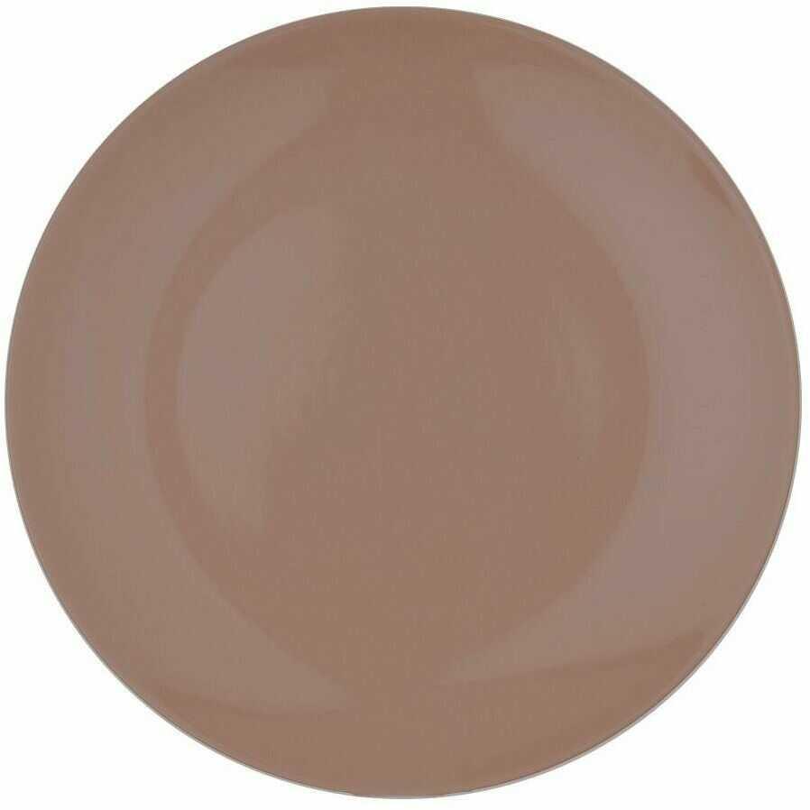 Talerz OBIADOWY płytki ceramiczny 27,5 cm BRĄZOWY