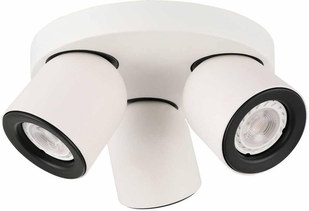 Italux Nuora SPL-2855-3C-WH plafon lampa sufitowa biało czarna potrójna GU10 3x35W IP20 21,5cm