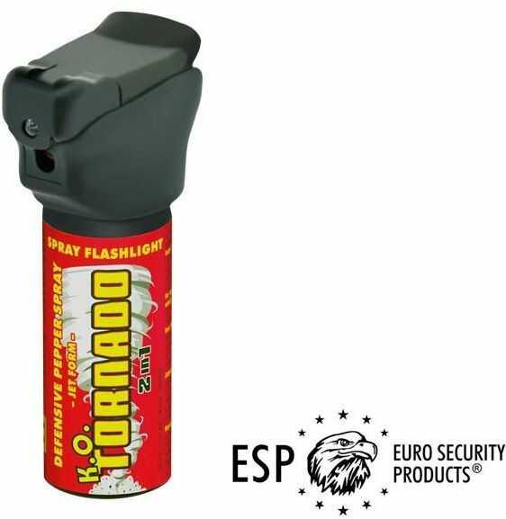 2w1!! Gaz Obezwładniający w Żelu (strumieniu) TORNADO (50ml) + Oślepiająca Dioda LED.