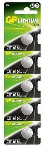 5 x bateria litowa mini GP CR1616