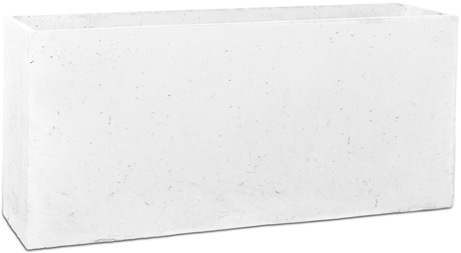 Donica betonowa LINEA L 90x22x40 biały