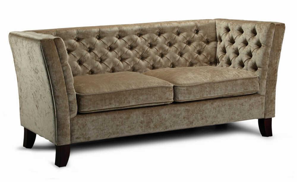 Sofa Kornelia trzyosobowa, kanapa tapicerowana pikowana