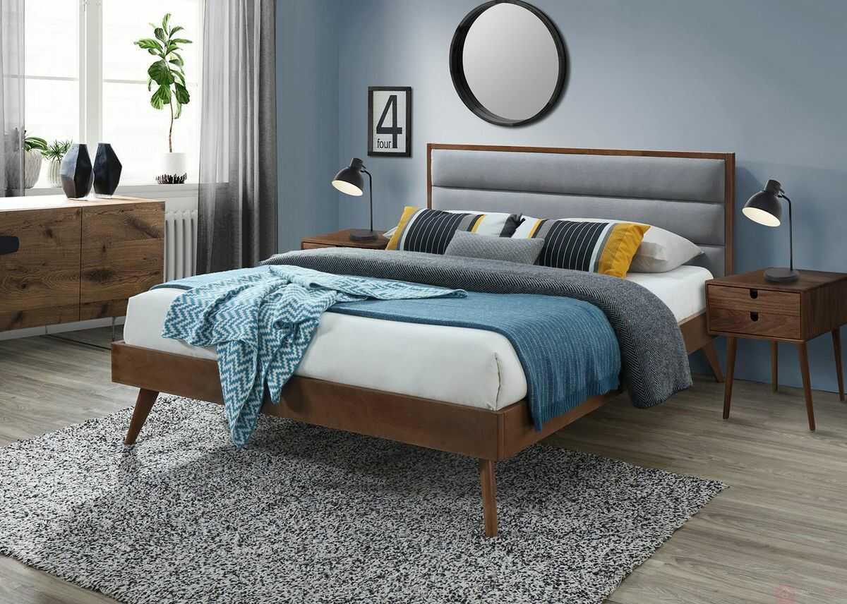 Łóżko ORLANDO Halmar 160x200 cm, Orzech