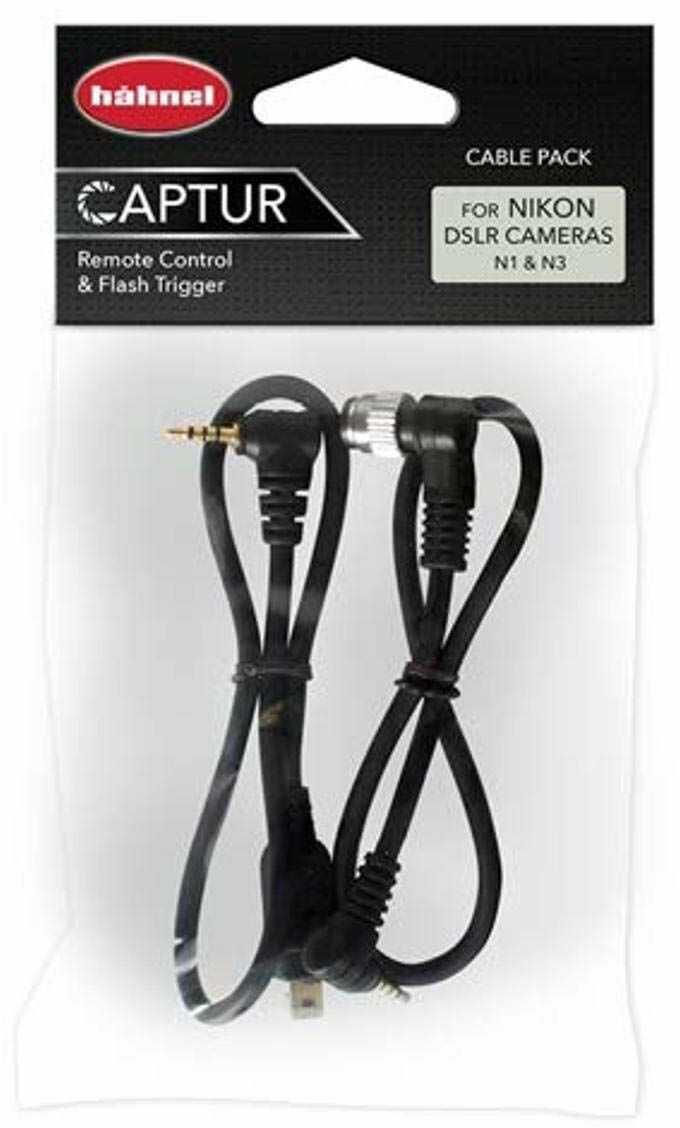 Hähnel Captur zestaw 2 kabli do pilota zdalnego sterowania do Nikon, Timer i Pro Modul/kabel zapasowy (N1 + N3)