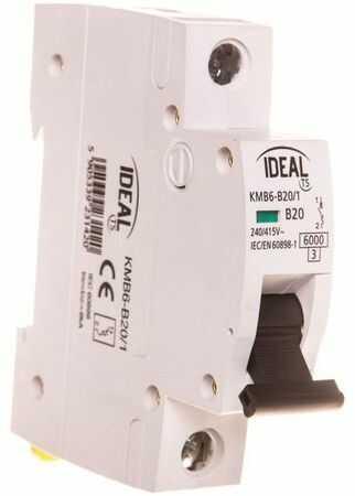 Wyłącznik nadprądowy 1P B 20A 6kA KMB6-B20/1 23142