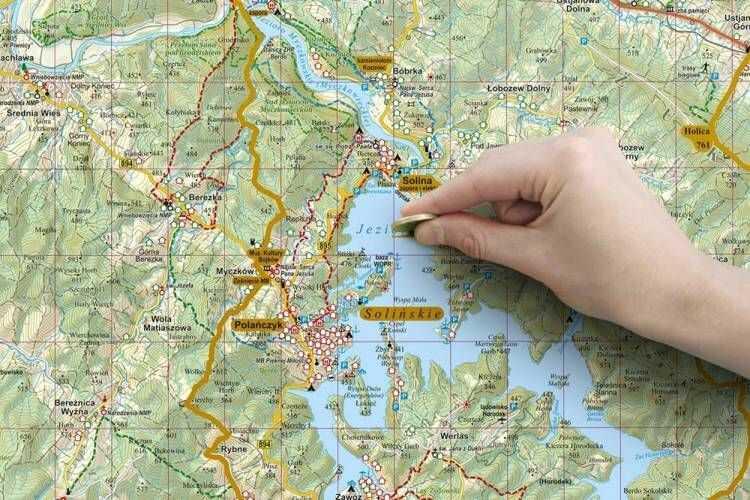 Mapa zdrapka Bieszczady 1:75 000