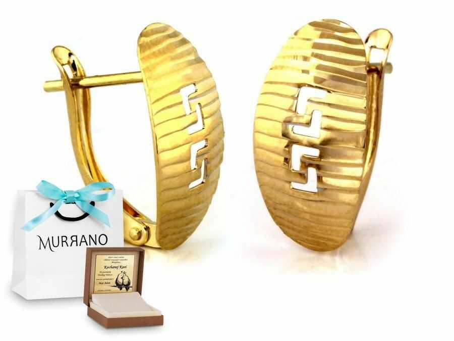 Złote kolczyki 585 angielskie zapięcie prezent