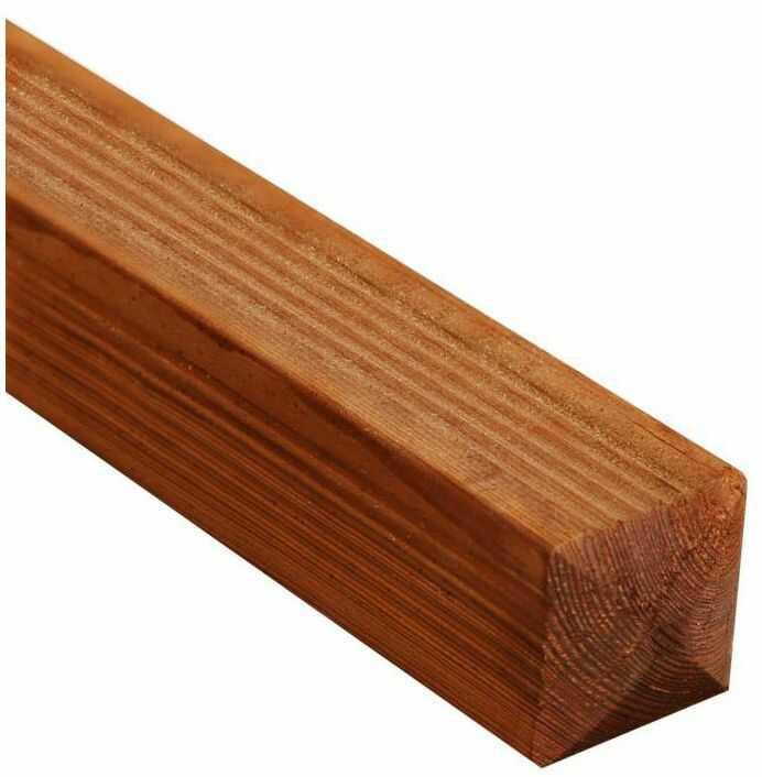 Kantówka drewniana 7x7x180 cm brązowa SUNRISE WERTH-HOLZ