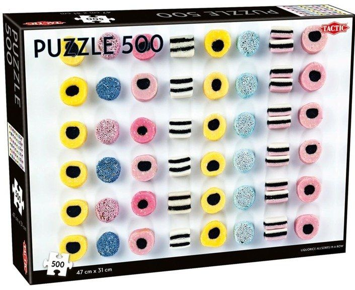 Puzzle 500 Liquorice allsorts in a row