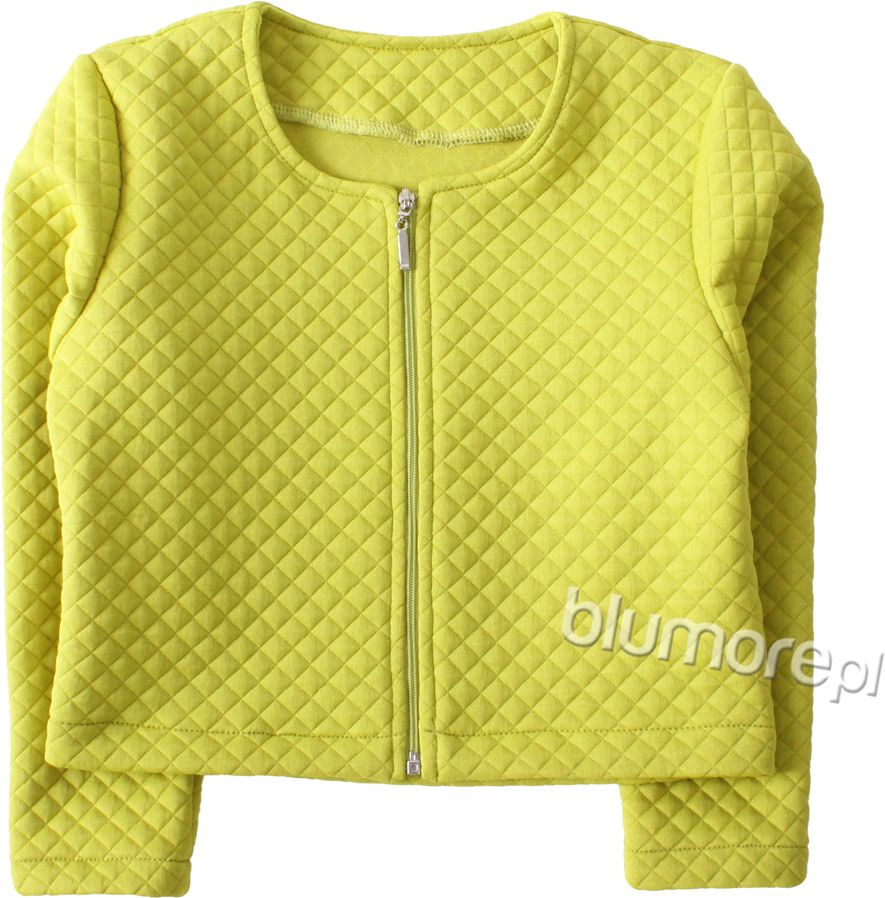 Kolorowe pikowane bolerko 92-158 bo01 limonka