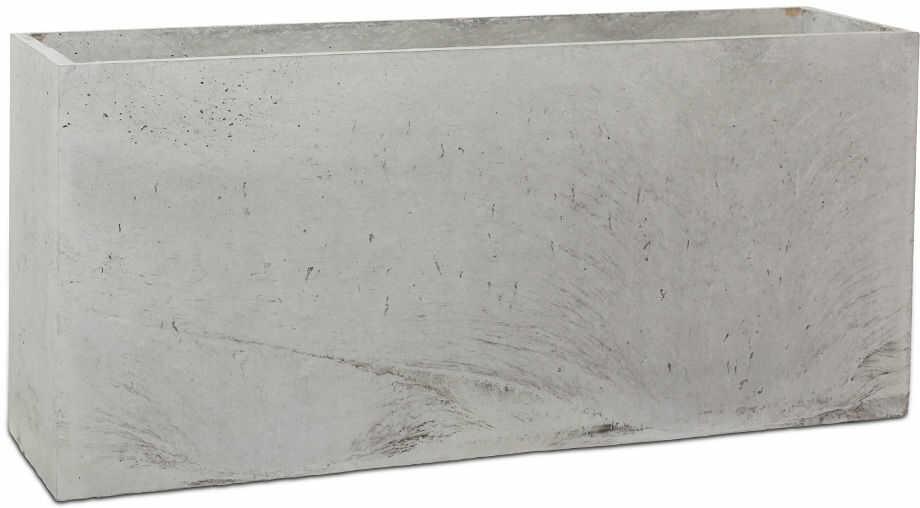 Donica betonowa LINEA L 90x22x40 szary naturalny