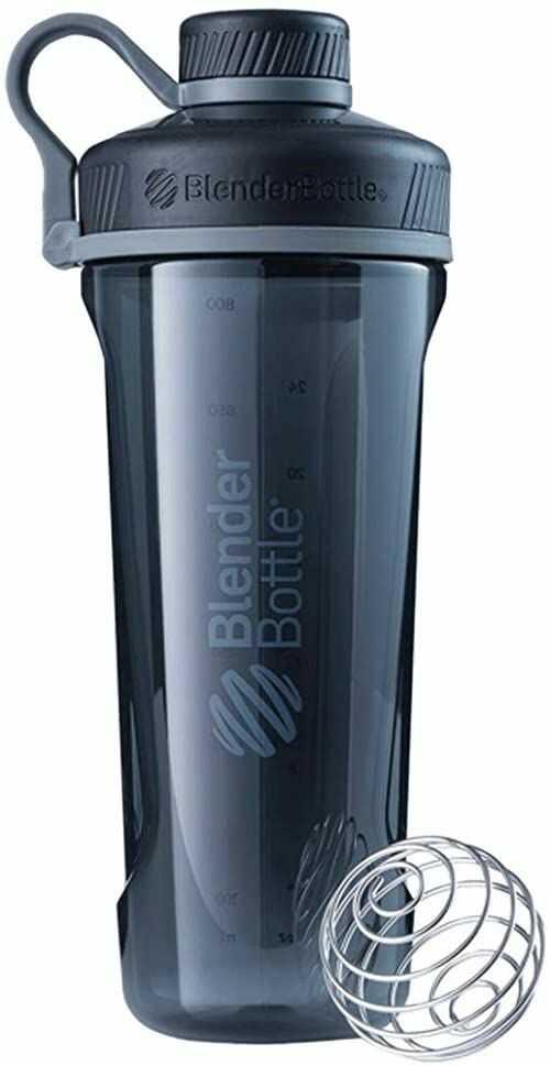 Blender Bottle Radian Tritan Kubek do shaker proteinowej Shaker do diety Butelka na wodę Z kulką Blender 940 ml - czarna