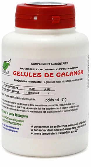 Przyprawy i zioła - Galgant kapsułki 230mg/200 sztuk, - 20006