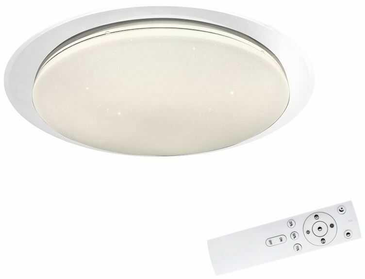 Milagro FILO EK75315 plafon lampa sufitowa ściemnialny+pilot biały klosz nowoczesna 30W LED 3000-6000K 48cm