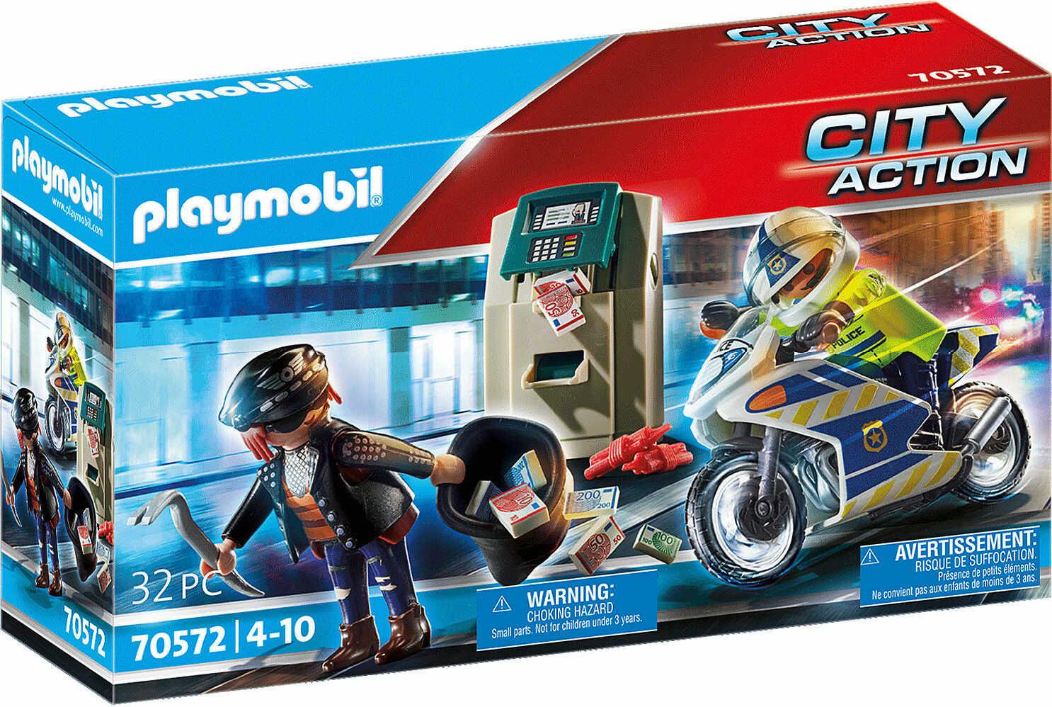 Playmobil - Pościg motorem policyjnym 70572