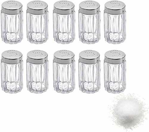 Westmark Shakery do soli, 10 sztuk, Pojemność: 50 ml każdy, Szkło/Stal nierdzewna, Traditionell, Srebrny/Przezroczysty, 630122E2