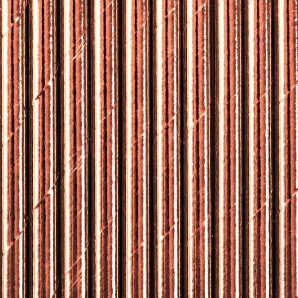 Słomki papierowe różowe złoto 10 sztuk SPP9M-019R