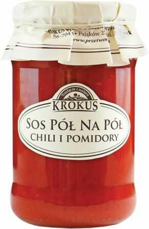Sos Pół Na Pół Chili i Pomidory 340g - Krokus