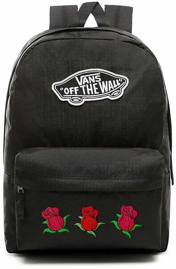 Plecak VANS Realm Backpack Custom Roses róże - VN0A3UI6BLK