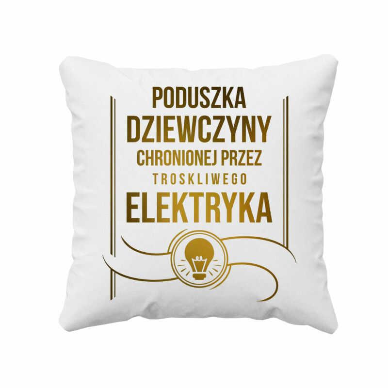 Poduszka dziewczyny elektryka - poduszka z nadrukiem