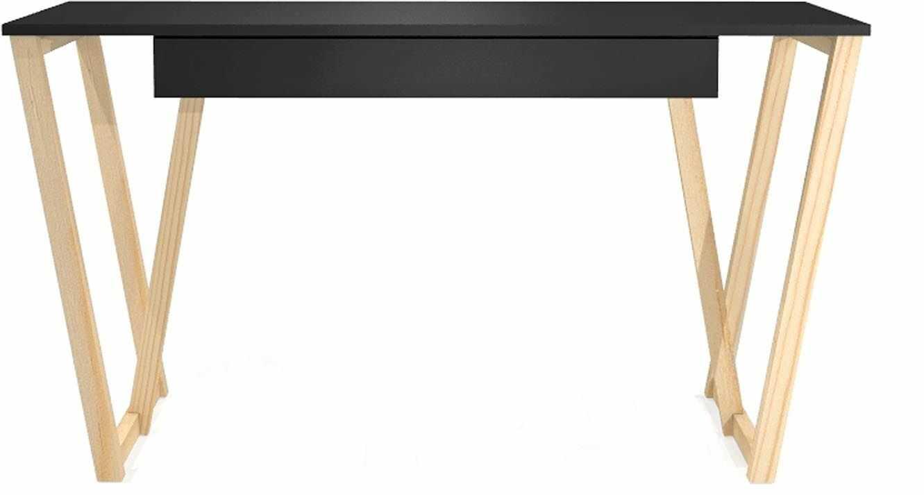 Czarne biurko młodzieżowe Molly 2X