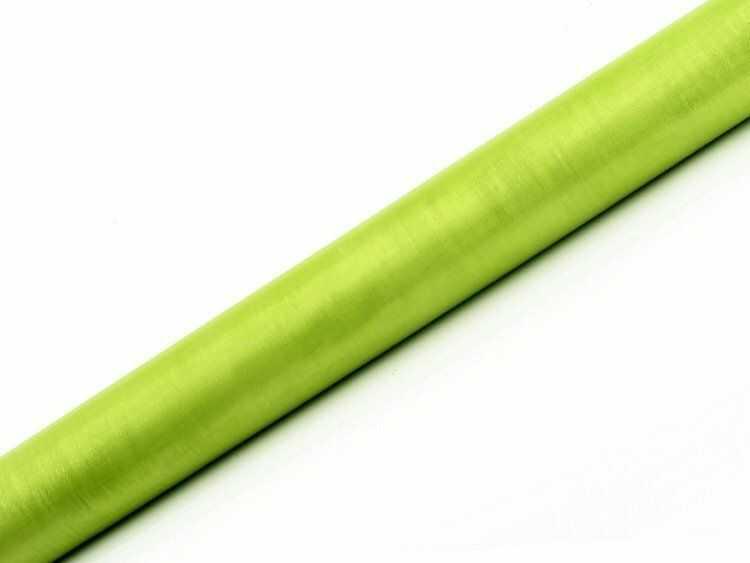 Organza j. zielona 36cm x 9m 1 rolka ORP-102