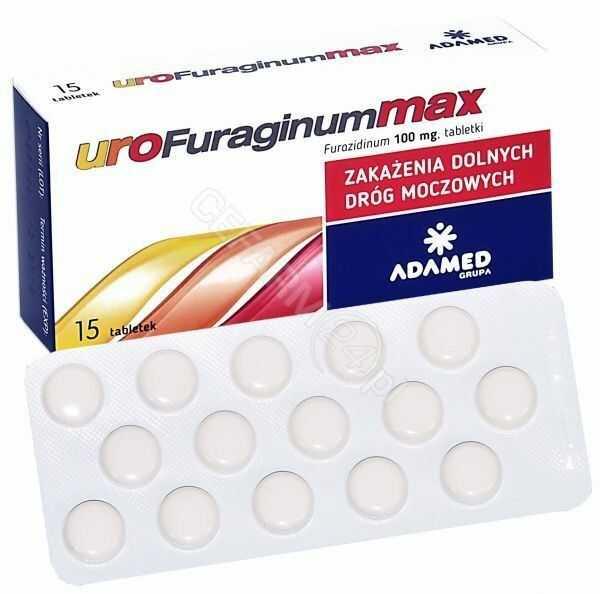 UroFuraginum Max 100 mg 15 tabl.
