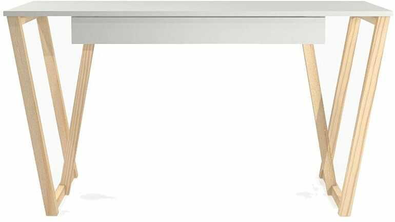 Białe biurko młodzieżowe Molly 2X