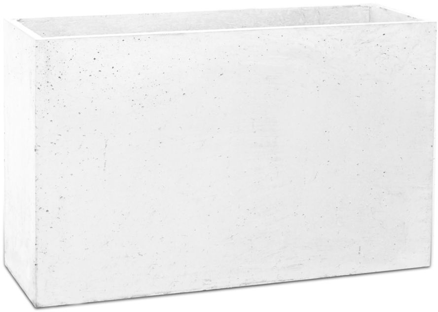 Donica betonowa LINEA M 60x22x40 biały