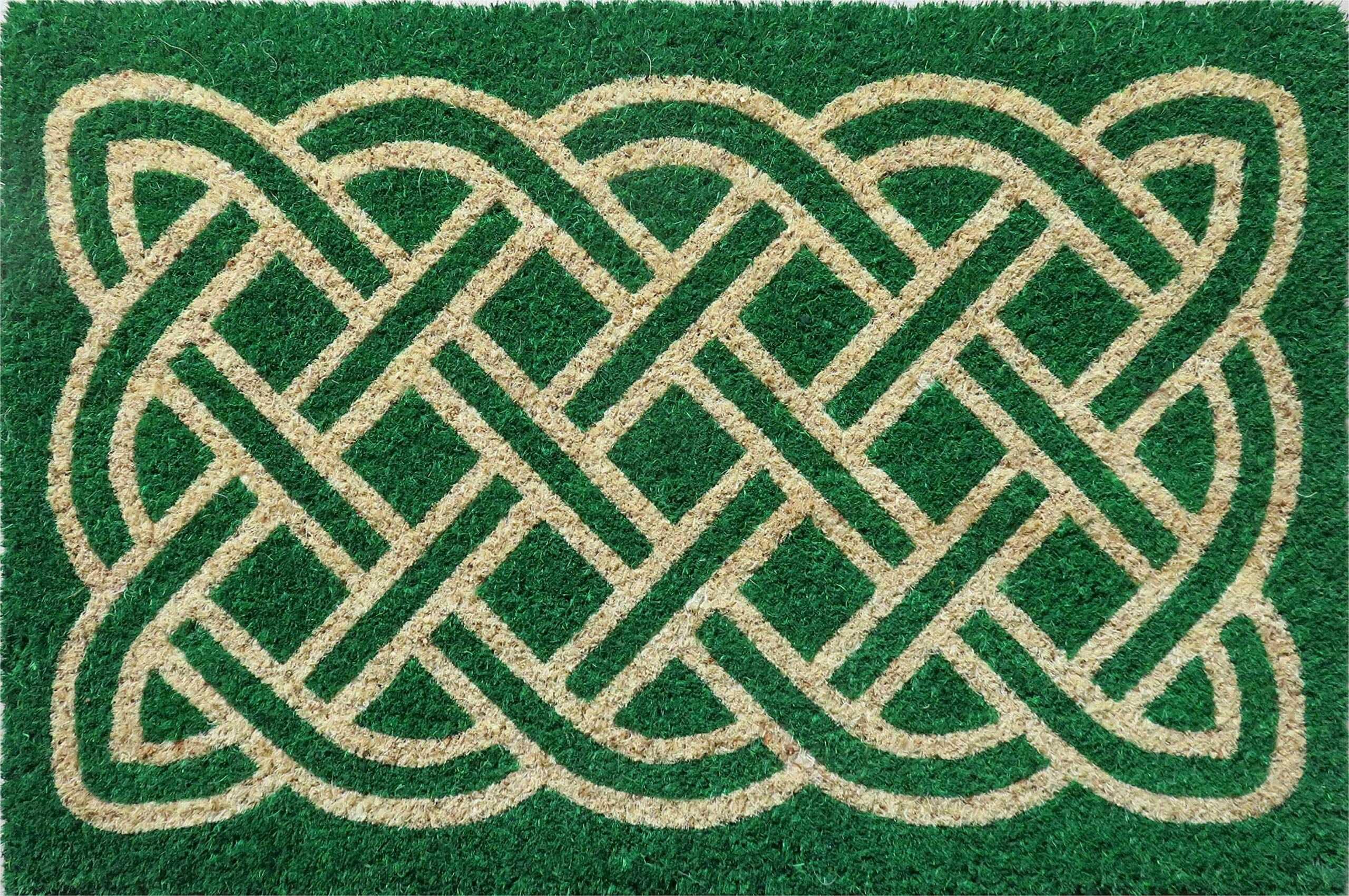 Entryways labirynt antypoślizgowa wycieraczka z cewką, zielona, 40 cm x 60 cm x 15 mm