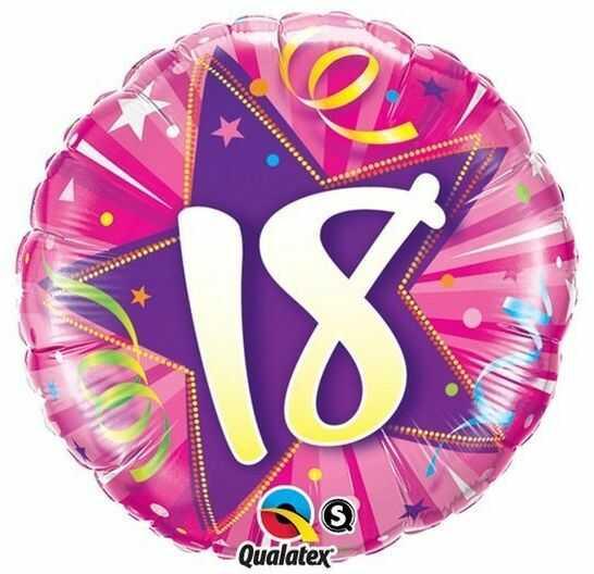 Balon foliowy 18 okrągły 45 cm 24002