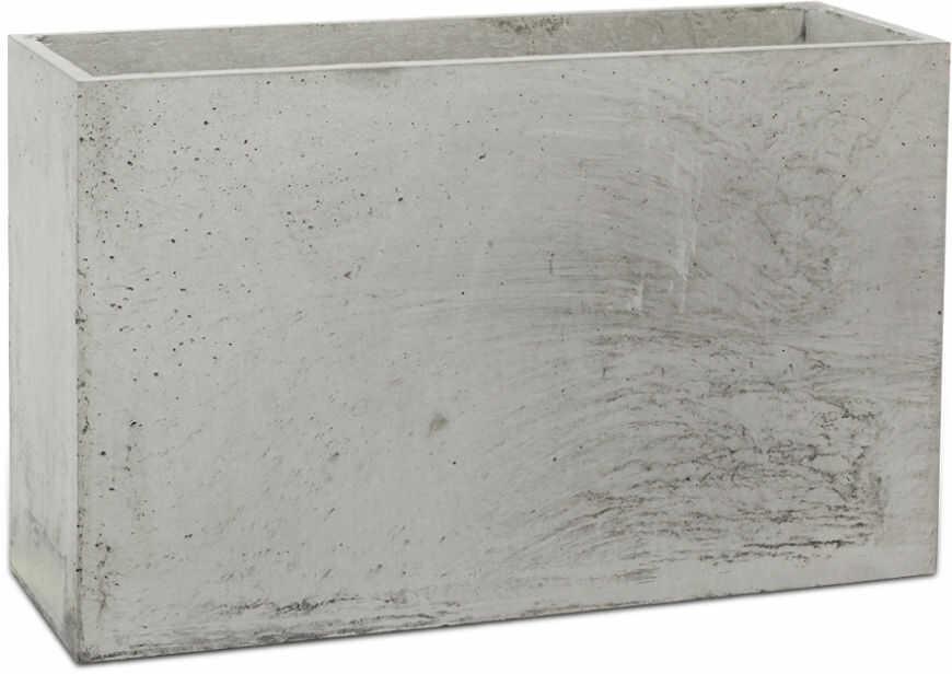 Donica betonowa LINEA M 60x22x40 szary naturalny