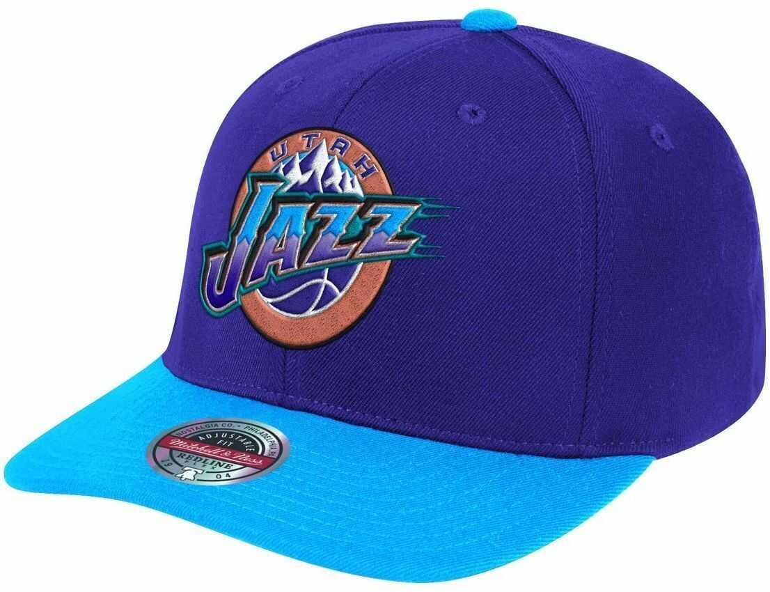 Czapka z daszkiem bejsbolówka Mitchell & Ness NBA Utah Jazz Snapback