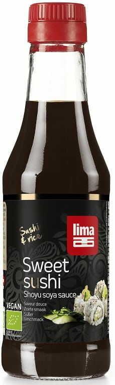 Sos sojowy shoyu słodki do sushi bio 250 ml - lima
