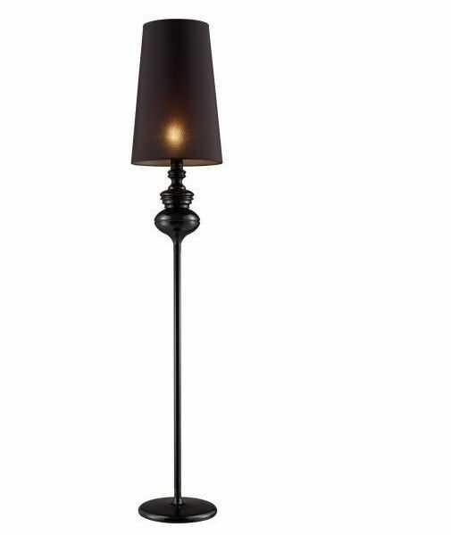 ŻARÓWKA LED GRATIS! Lampa podłogowa Baroco AZ0063 AZzardo czarna oprawa w klasycznym stylu